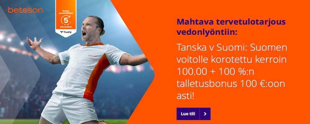 Betsson tarjoaa kampanjoita jalkapallon EM-kisojen ympärille